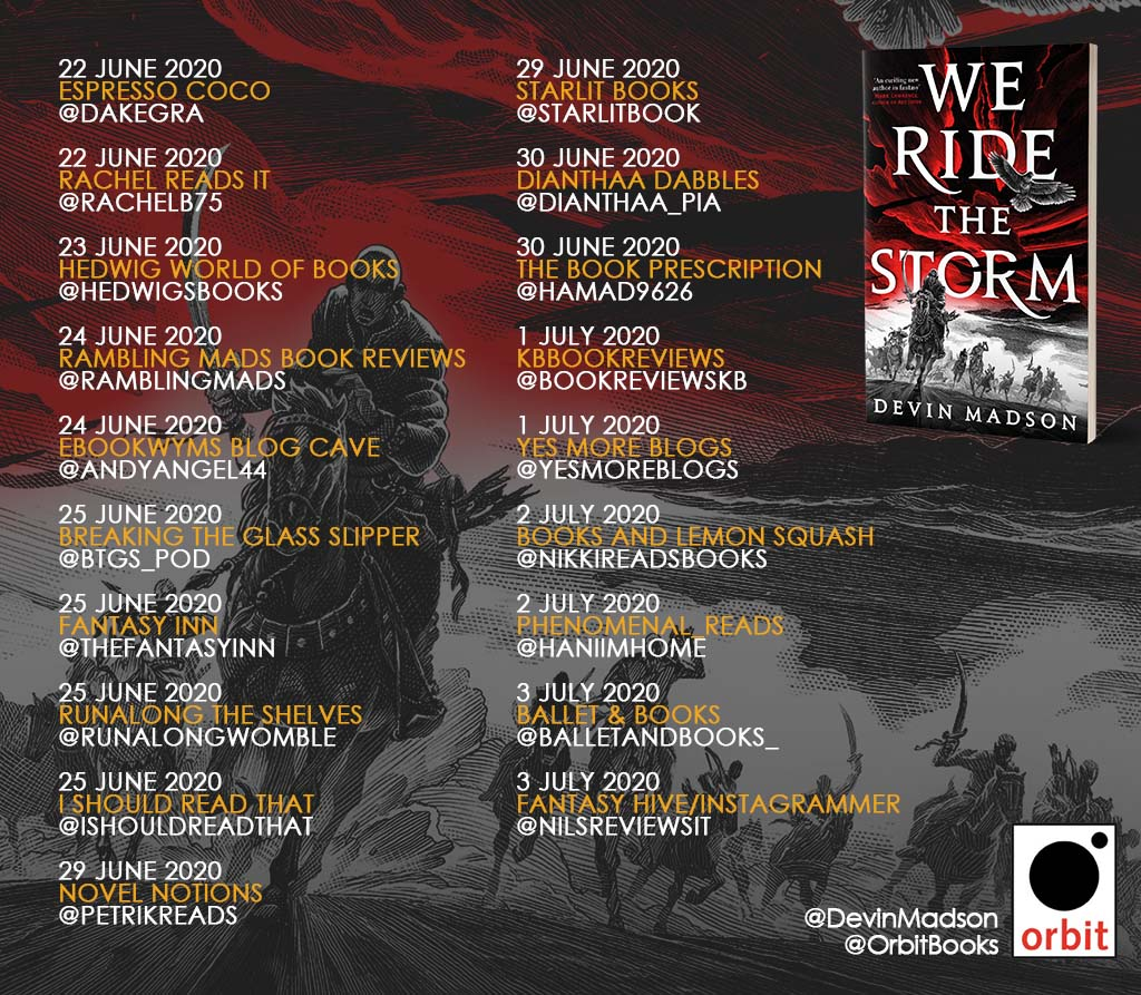 We ride the storm blog tour banner